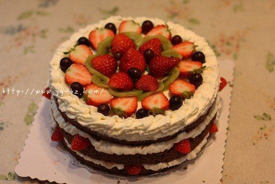 巧克力戚风裸蛋糕的做法 步骤21