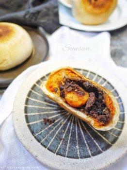 麻薯肉松红豆饼——网红