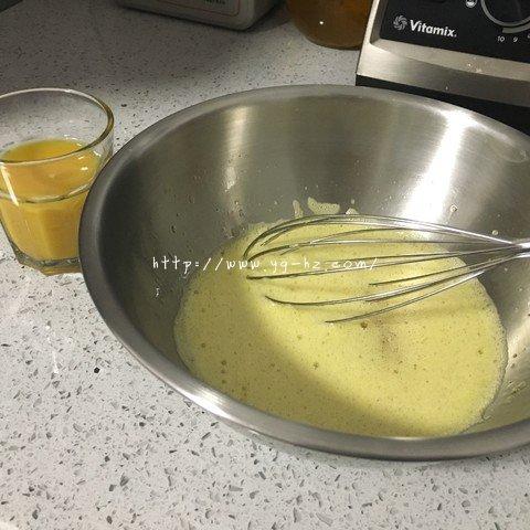 日式橙汁云朵蛋糕的做法 步骤6