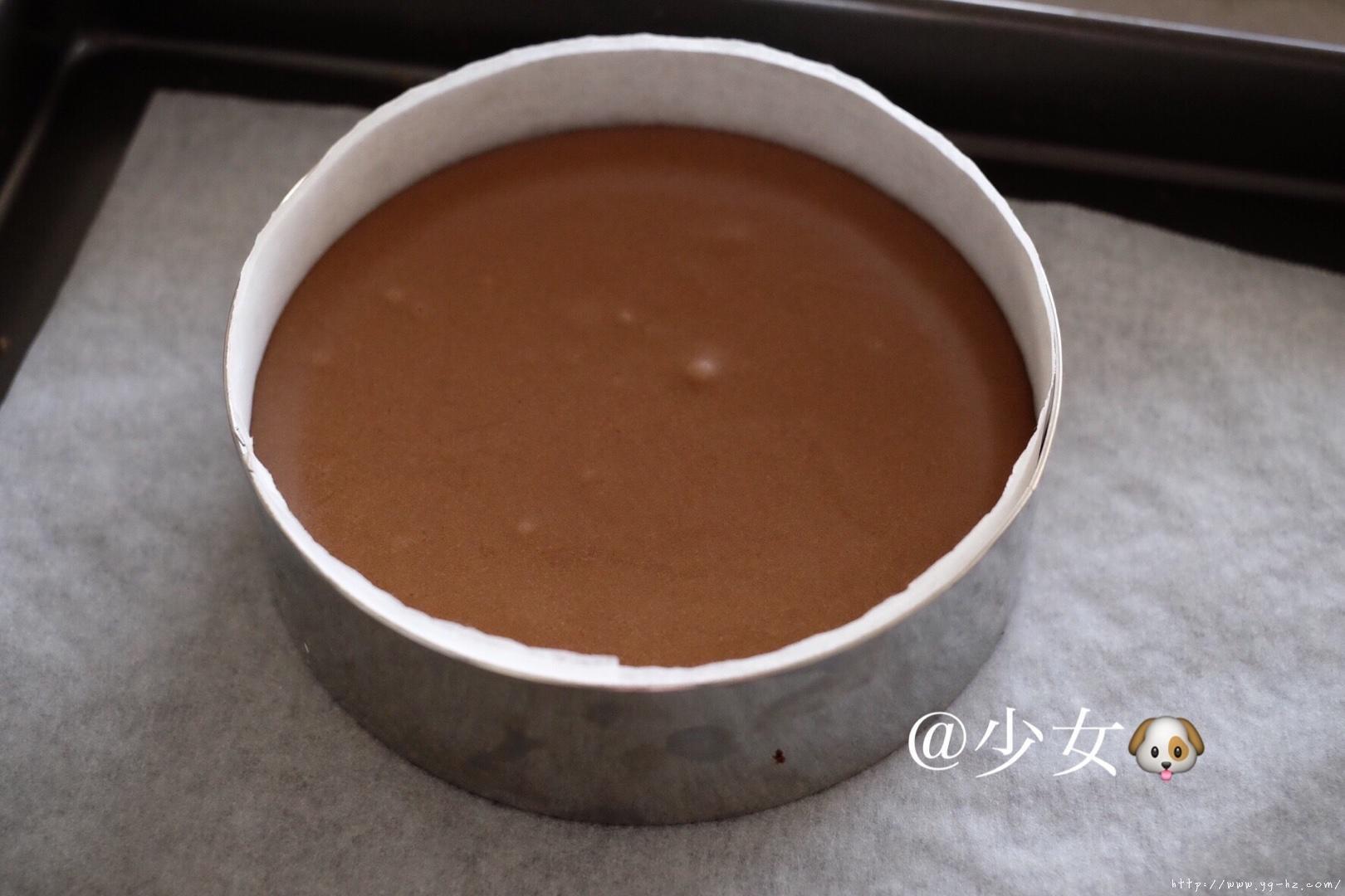 <LeTao> 巧克力双层芝士蛋糕配方大公开!!的做法 步骤10