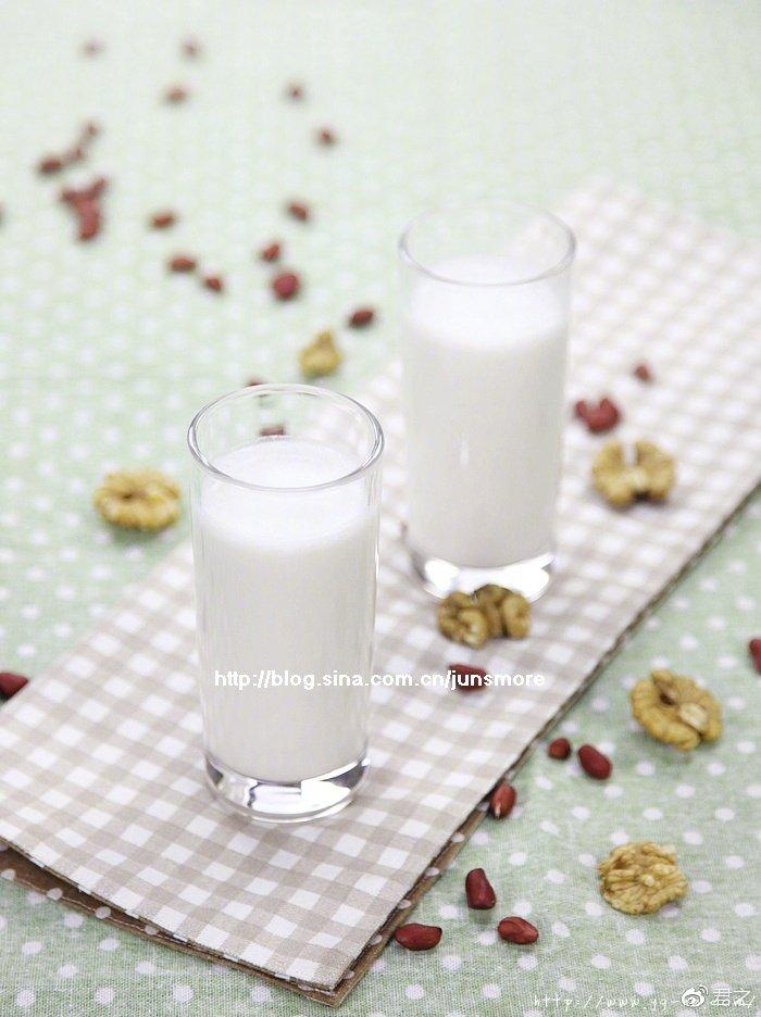 充满活力的一天,从一杯花生核桃牛奶开始