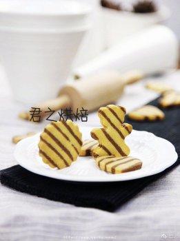 不一般的双色条纹花生饼干