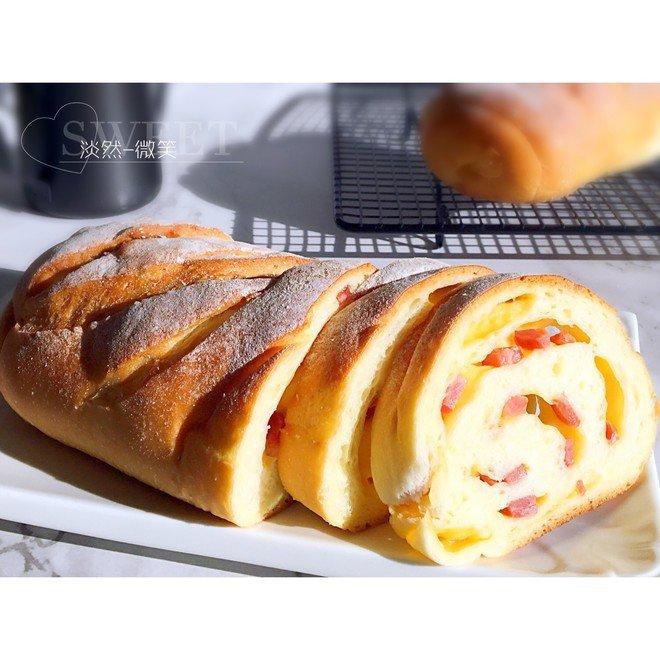 香肠(培根)芝士面包-老面版的做法