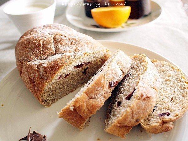 蔓越莓全麦黑糖面包的做法