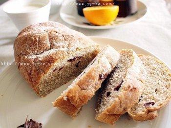 蔓越莓全麦黑糖面包