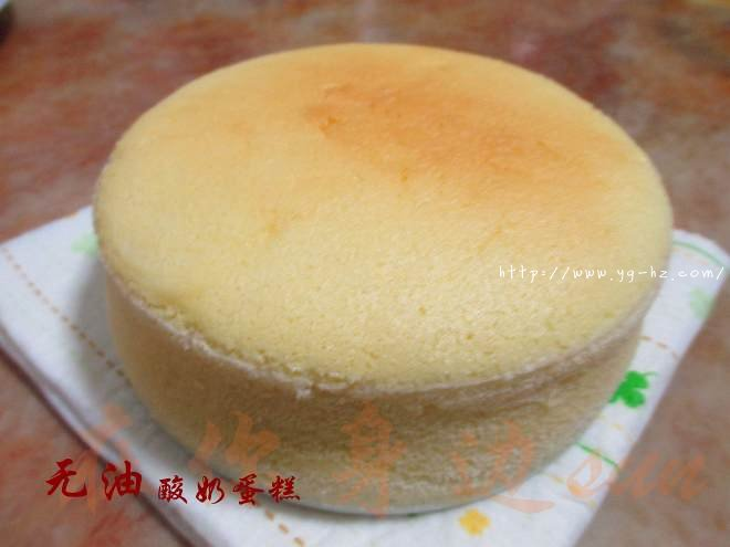 无油酸奶蛋糕6寸(2蛋)的做法