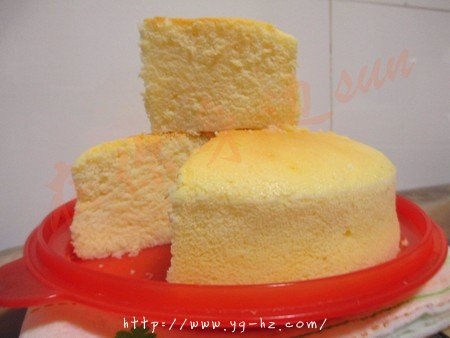 无油酸奶蛋糕6寸(2蛋)的做法 步骤12