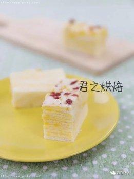 蛋黄千层蒸糕,松软香甜
