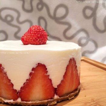极简美味草莓酸奶慕斯蛋糕的做法