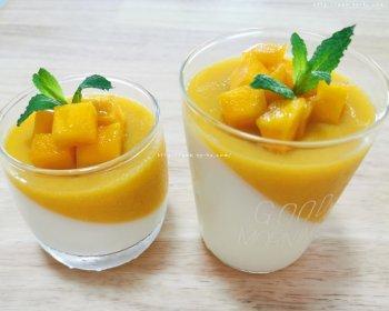 甜而不腻的酸奶芒果布丁