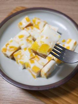 超快手的椰奶芒果糕(椰树椰汁版)的做法步骤图