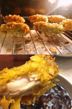 烤箱薯片鸡翅(零油、零