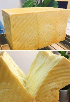 只需一次发酵的超软吐司(附面包机揉手套膜攻略)的做法步骤图