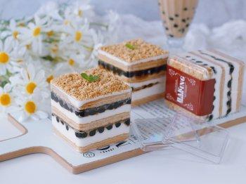 珍珠奶茶盒子蛋糕的做法步骤图,怎么做好吃