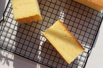 香橙古早蛋糕(烫面水浴法)的做法步骤图
