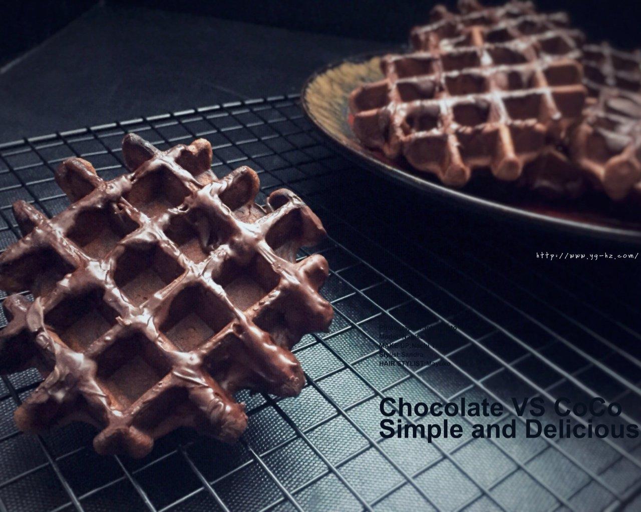 巧克力酱可可华夫饼(松软快手糯米粉版)的做法 步骤9