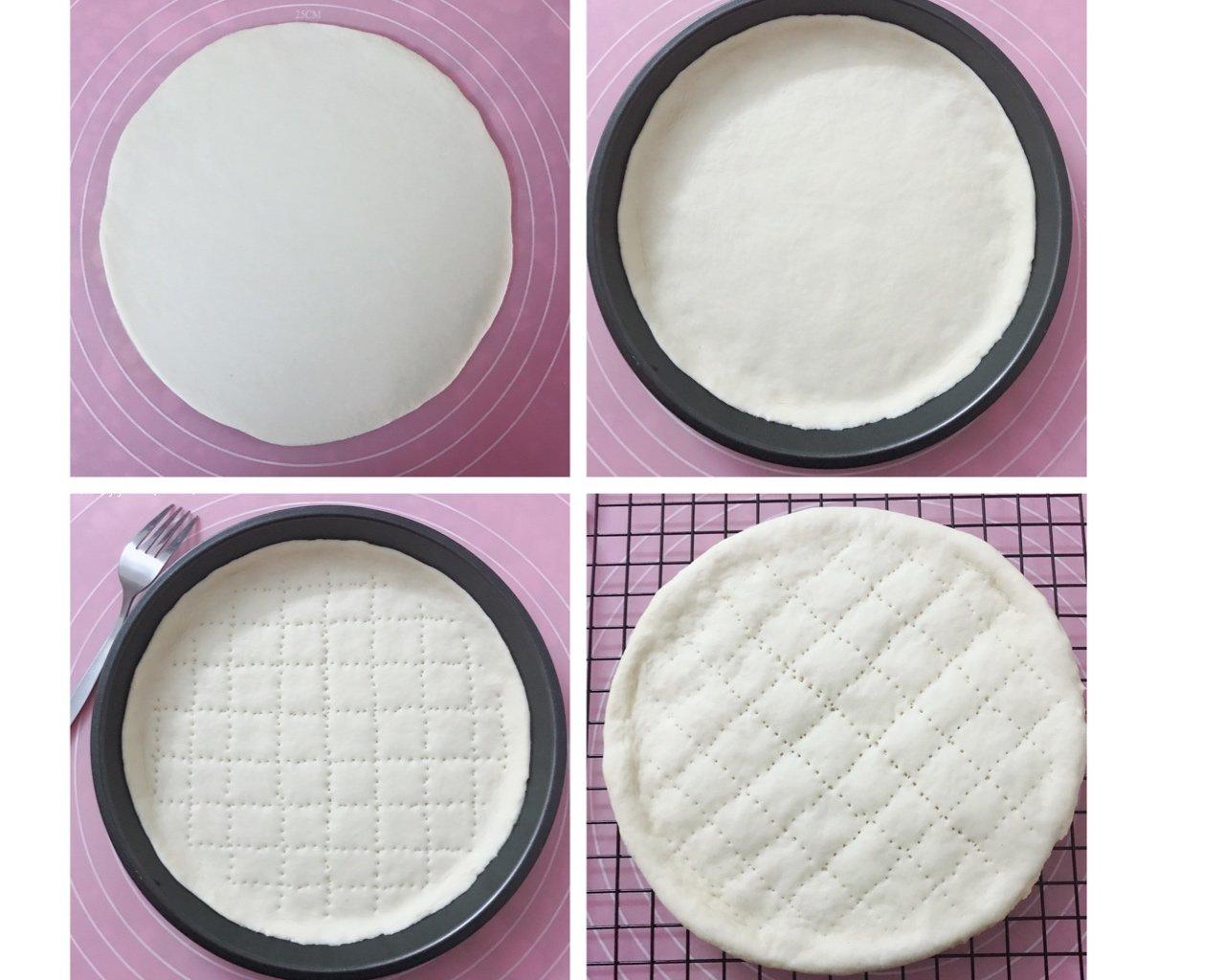 8寸披萨饼皮(附详细步骤图)的做法