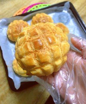 一次性发酵快手菠萝包的