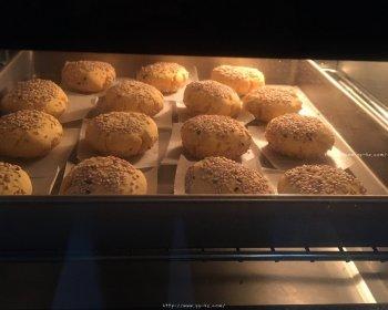 烤糯米粉红薯饼的做法步