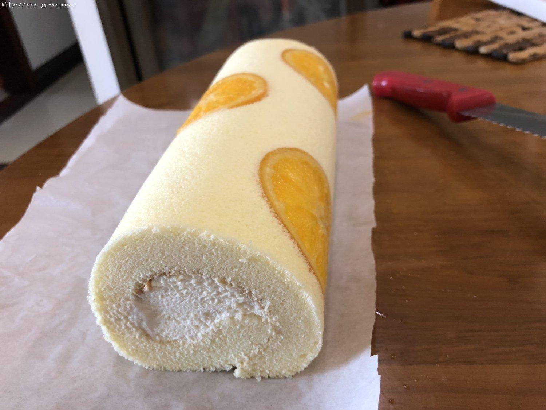 香橙蛋糕卷(好看好香好吃)的做法 步骤24