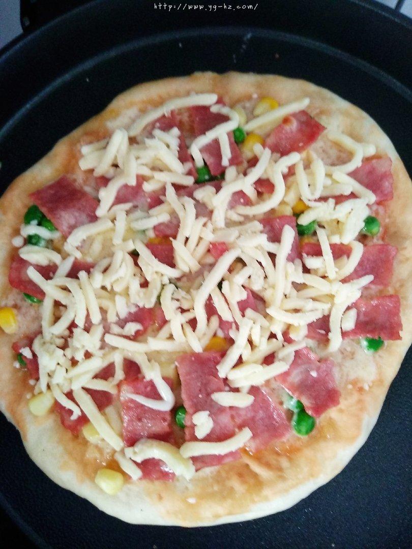 免烤箱披萨电饼铛十分钟搞定的做法 步骤9