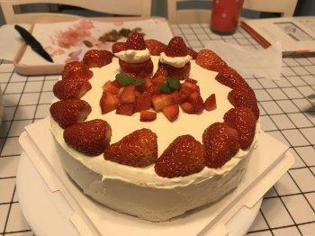 6寸/8寸戚风蛋糕+简易裱花的做法步骤图