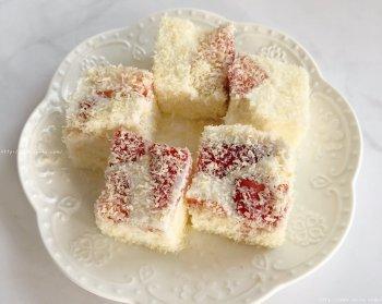 草莓椰奶小方的做法步骤图,怎么做好吃