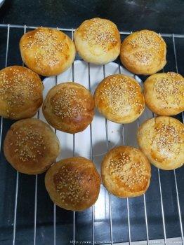 烤箱版吊炉烧饼的做法步