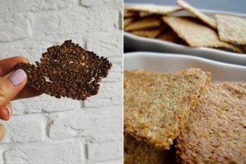 咸香酥脆|亚麻籽(粉)|饼干脆片的做法步骤图
