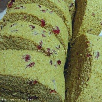 抹茶蔓越莓蛋糕卷的做法