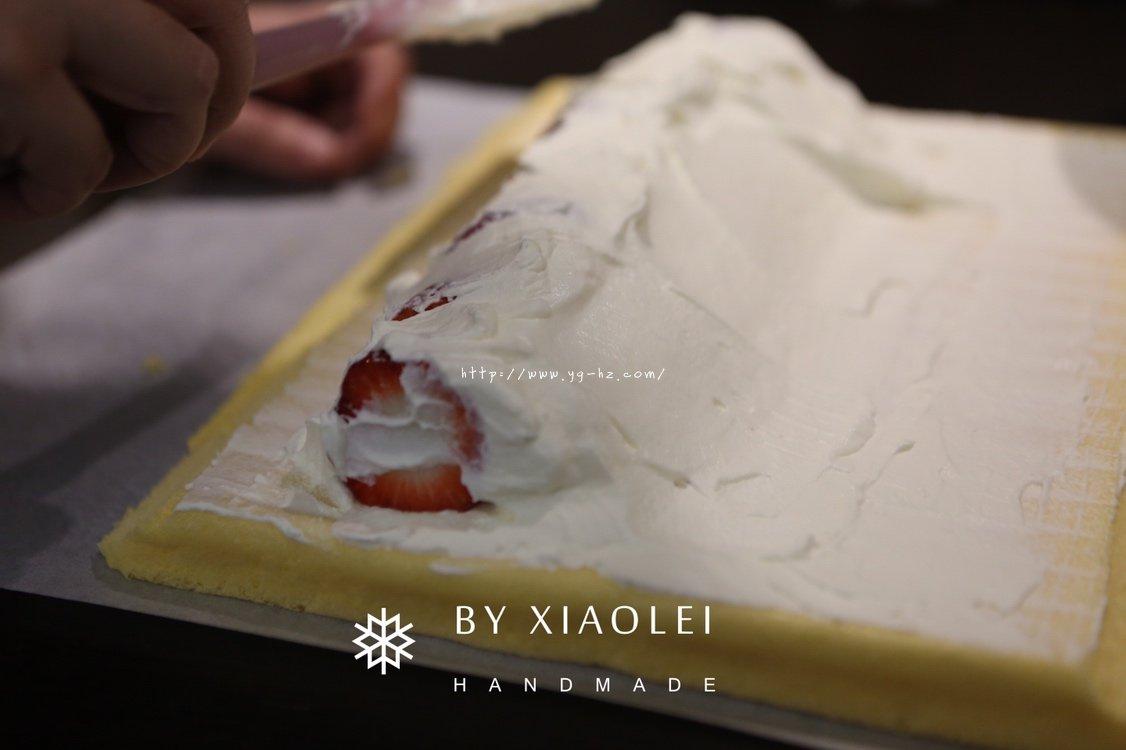 一锅搞定海绵蛋糕卷的做法 步骤12