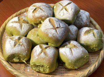 日式抹茶面包的做法步骤