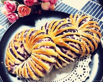 紫薯面包圈的做法步骤图