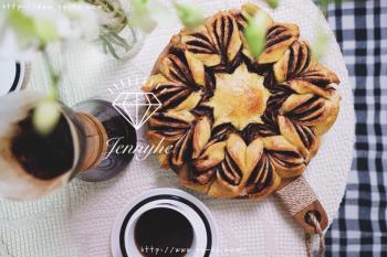 巧克力花朵面包(Nutella