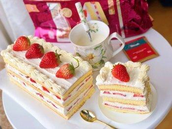 草莓城堡蛋糕『零失败超