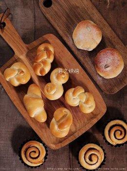经典白面包卷,超多种造型一次都学会!
