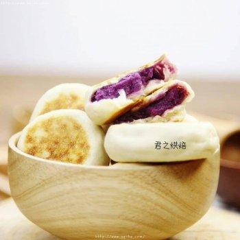 少油少糖!香软紫薯饼