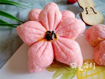 桃花酥,香甜奶黄馅,春