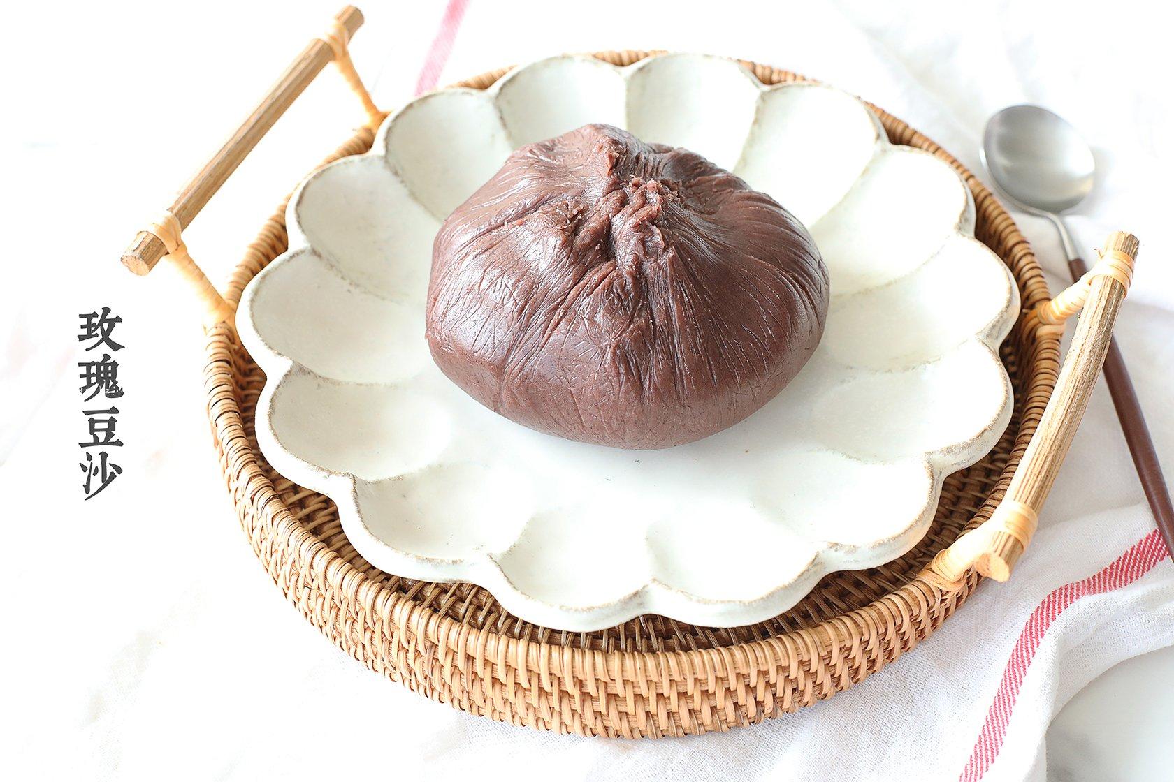 自制低油玫瑰豆沙【适合包子、青团、面包等】的做法