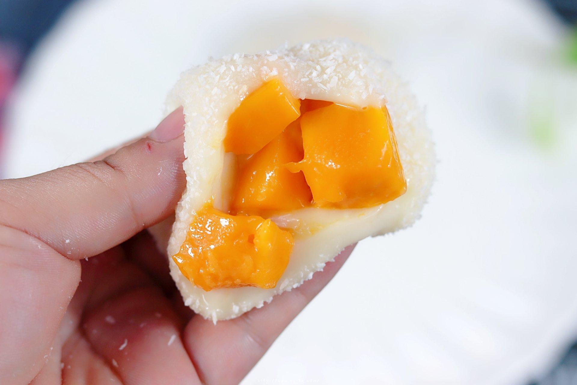 无需烤箱,奶香十足!软糯芒果麻薯的做法 步骤12