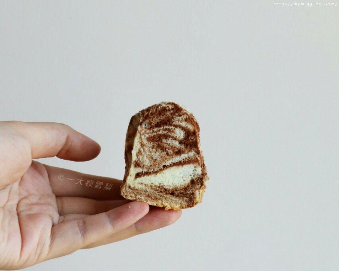 巧克力大理石戚风蛋糕Choco Marbled Chiffon Cake的做法