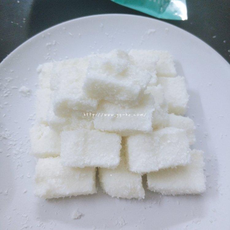 椰蓉小方(吉利丁片版)的做法 步骤3