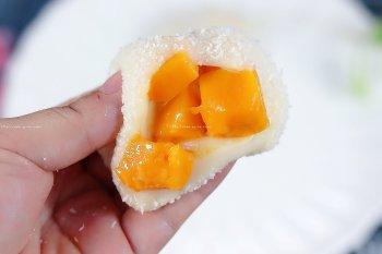 无需烤箱,奶香十足!软糯芒果麻薯的做法步骤图