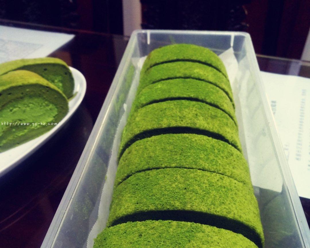 抹茶蛋糕卷(超详细)的做法