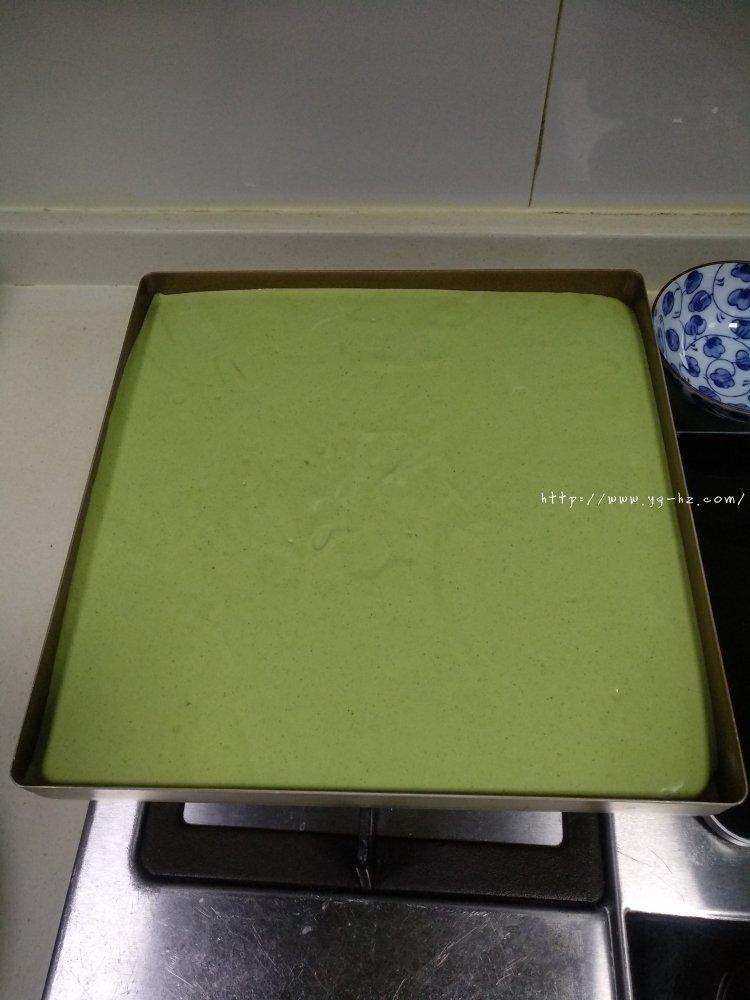 抹茶蛋糕卷(超详细)的做法 步骤19