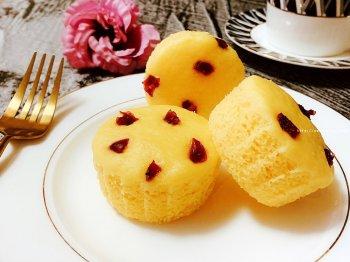 美味营养的奶香玉米面大米粉米发糕(酵母版)的做法步骤图