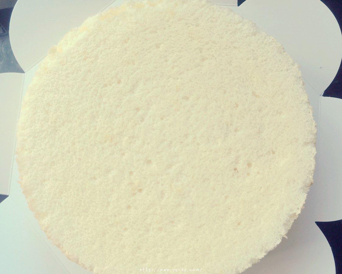 一只柠檬戚风蛋糕(8寸)的做法 步骤9
