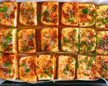 烤箱烤豆腐的做法步骤图,烤箱烤豆腐怎么做好吃