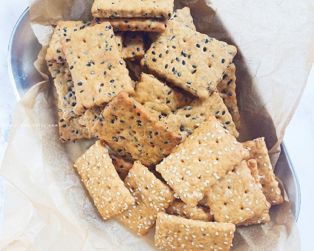 芝麻苏打饼干(无糖)的做法