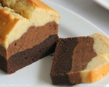 三色巧克力磅蛋糕材料简单 快速的做法步骤图